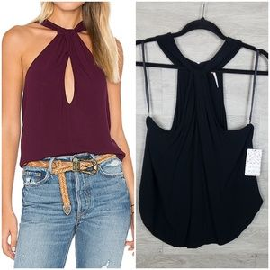 Free people black twist and shout tank Size S